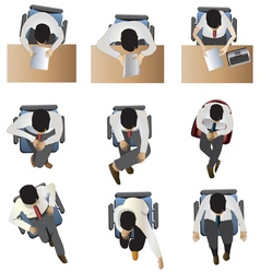 people sitting top view set 6 vector image