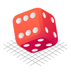 Play dice icon isometric style vector