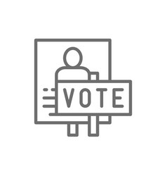 Presidential election poster voting banners vector