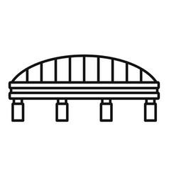 Safe bridge icon outline style vector