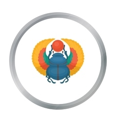 Scarab icon in cartoon style isolated on white vector