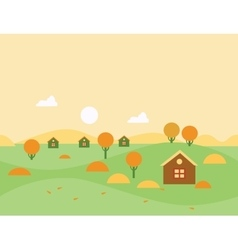 Seamless Cartoon Autumn Nature Landscape vector