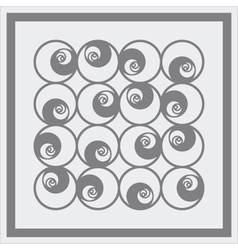 seamless circles pattern vector image