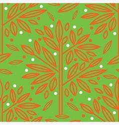 Seamless tree pattern 016 vector