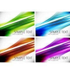 Set of line backgrounds vector image