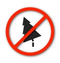 Sign prohibition deforestation vector