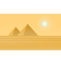 Silhouette of pyramid on desert vector image