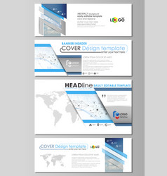 social media and email headers modern banners vector image