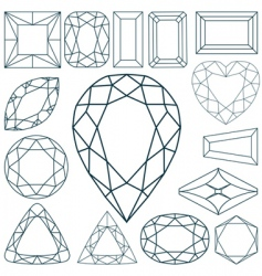 stone shapes vector image