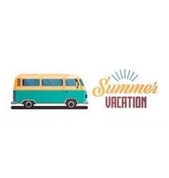 summer vacation surf bus retro surfing vintage vector image