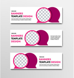 template of horizontal web banners with bubble vector image