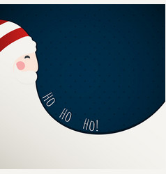 the red christmas card with santa claus vector image