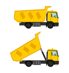 Tipper dump truck isolated vector