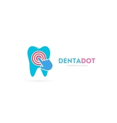 tooth and click logo combination Dental vector image