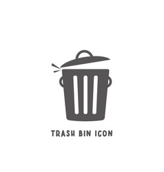 trash bin icon simple flat style vector image