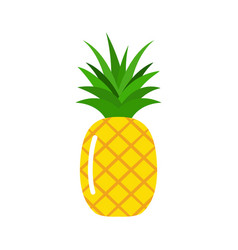 tropic fruit pineapple icon isolated on white vector image