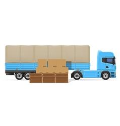 truck semi trailer concept 02 vector image