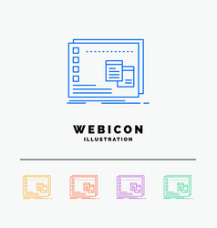 Window mac operational os program 5 color line vector