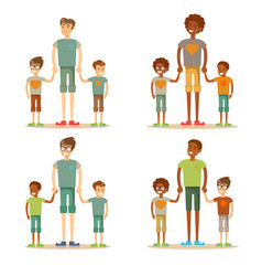 young dad is enjoying time with his child vector image
