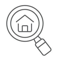 find real estate company thin line icon vector image