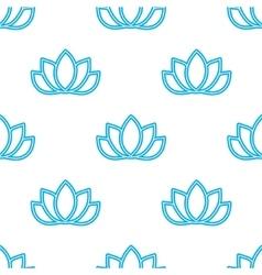 lotus flowers pattern Oriental background vector image