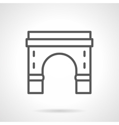 Round arch with pillars black line icon vector image vector image
