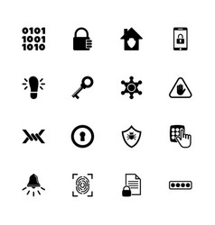 safety - flat icons vector image