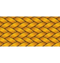 golden fabric weaving vector image vector image