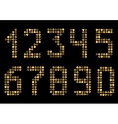 Golden number set vector image