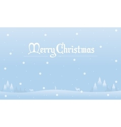 Landscape Christmas with snow winter silhouettes vector image vector image