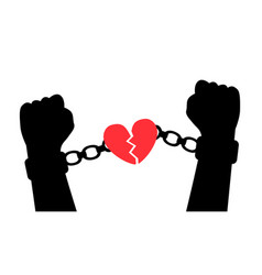 liberation from love vector image vector image
