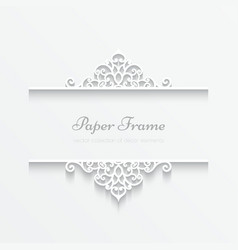 Paper frame vector image vector image