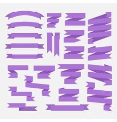Purple ribbons set vector image vector image