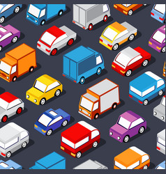 seamless pattern of cars vector image
