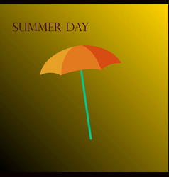 yellow umbrella on a yellow background vector image vector image