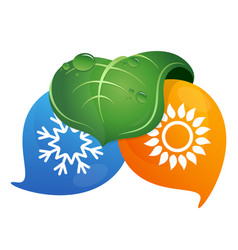 air conditioning bio symbol design vector image vector image