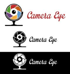 Camera eye logo vector image