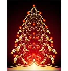 christmas golden vector image vector image