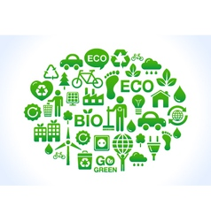 Eco friendly world- icons set vector image vector image