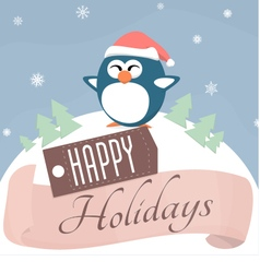 Holiday Penguin vector image