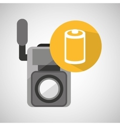 movie video camera roll negarive vector image