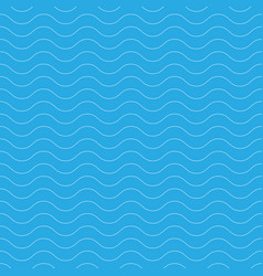 seamless wavy pattern white thin lines on blue vector image vector image
