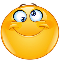 silly eyes emoticon vector image vector image