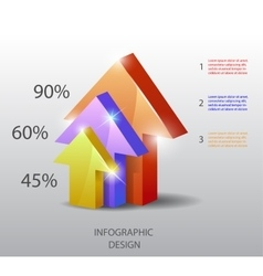 template in modern style For infographic vector image vector image