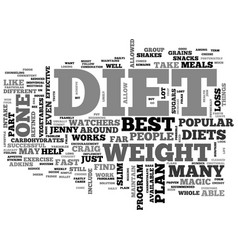 a works like magic best diet true or false text vector image vector image