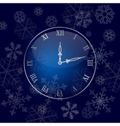 christmas wall clock background vector image