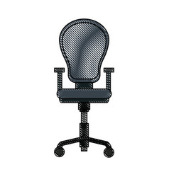 drawing armchair office equipment seat vector image vector image