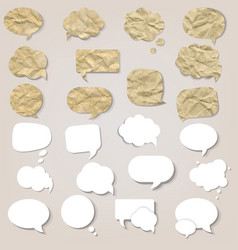 grey background with speech bubbles set vector image vector image