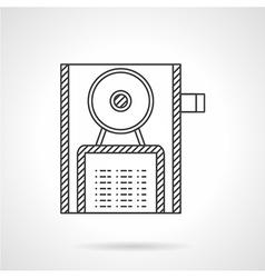 Reserved sign line icon vector image vector image