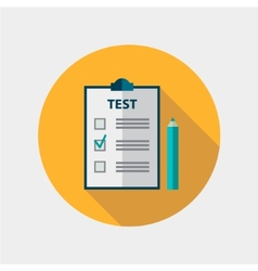 test flat design icon isolated education vector image vector image